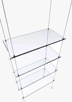 glass display shelves