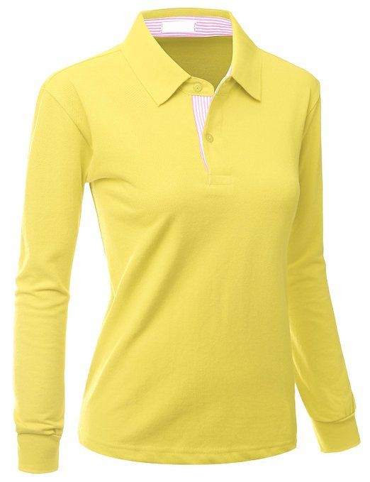 This sporty and luxurious womens casual basic gol polo shirt by Xpril  maitains quality and shape