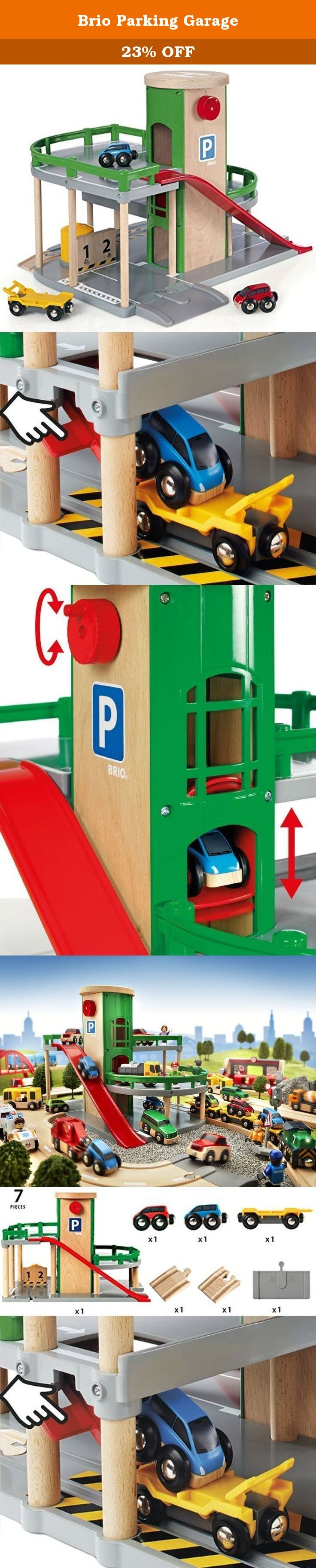 Brio Parking Garage. Founded in Sweden in 1884, BRIO makes the highest quality wooden toys that have delighted children and created happy memories for generations. Both educational and fun, BRIO's uncompromising focus on design, quality and craftsmanship create toys of lasting value that stimulate creativity and imagination. Engaging play and learning are integral themes in all BRIO toys, satisfying a child's educational needs and growing with them through their various phases of...