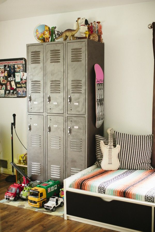 lockers in the kids room