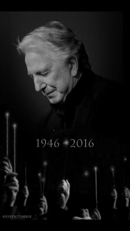 Can't believe it's already been one year.  Alan Rickman, you are still missed and will be remembered, always.