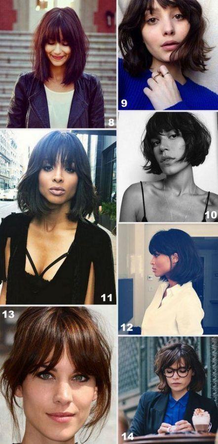 56 Trendy Haircut Straight Fringe Short Bobs  - Haircut / Frisuren - #Bobs #Fringe #Frisuren #haircut #short