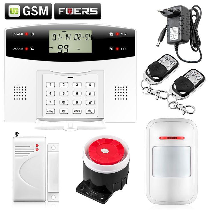 Intelligent Dual-Network GSM/PSTN Burglar Alarm system for home House villa Burglar Security LCD Keyboard  Wireless alarma gsm