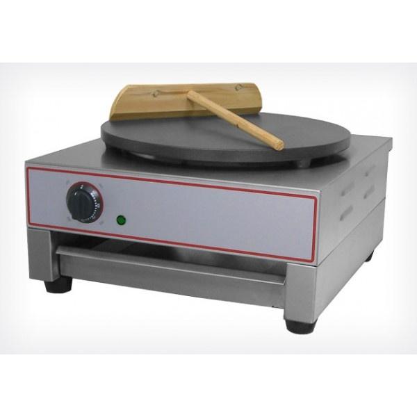 CREPIERA ELETTRICA MONOFASE PIATTO ø40 CM  CODICE:PIA03185  Crepiera elettrica per cottura crepes.  Struttura in acciaio inox  Piastra Teflonata  Temperatura +30°C ~ +300°C  Piano cottura(mm) : 400(Ø)  Potenza: 3kW / 230 V  Peso: 23 Kg.  1 spatola in legno in dotazione  Dimensioni: 450x480x230h mm  Alimentazione : Monofase  Manuale  TEMPI DI CONSEGNA: SE DISPONIBILE A MAGAZZINO I TEMPI DI CONSEGNA SONO DI 4/5 GIORNI LAVORATIVI, E' COMUNQUE SEMPRE PREFERIBILE CONTATTARCI PER VERIFICARNE…