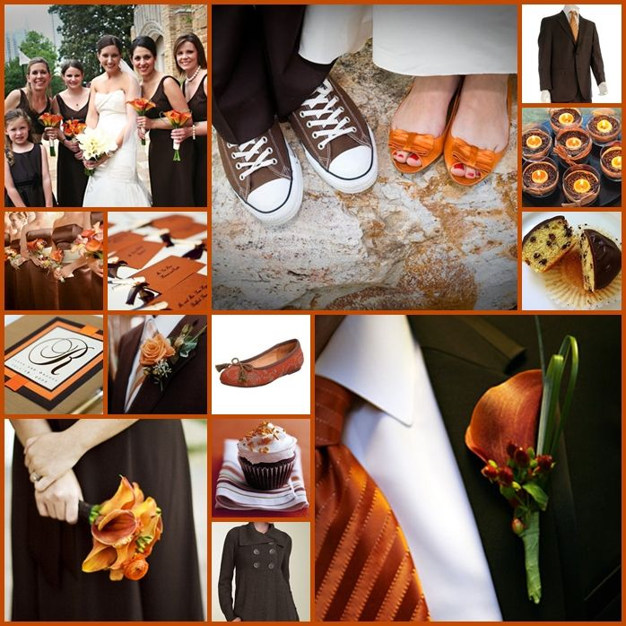 53 best Fall Wedding--Chocolate brown, Burnt orange, Gold, & Ivory ...