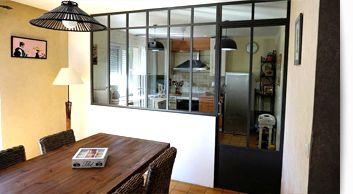 Verrière d\'intérieur atelier d\'artiste, Cloison vitrée en acier ...