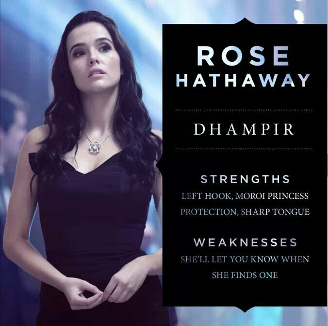 And people wonder why I want to be her! Rose Hathaway!