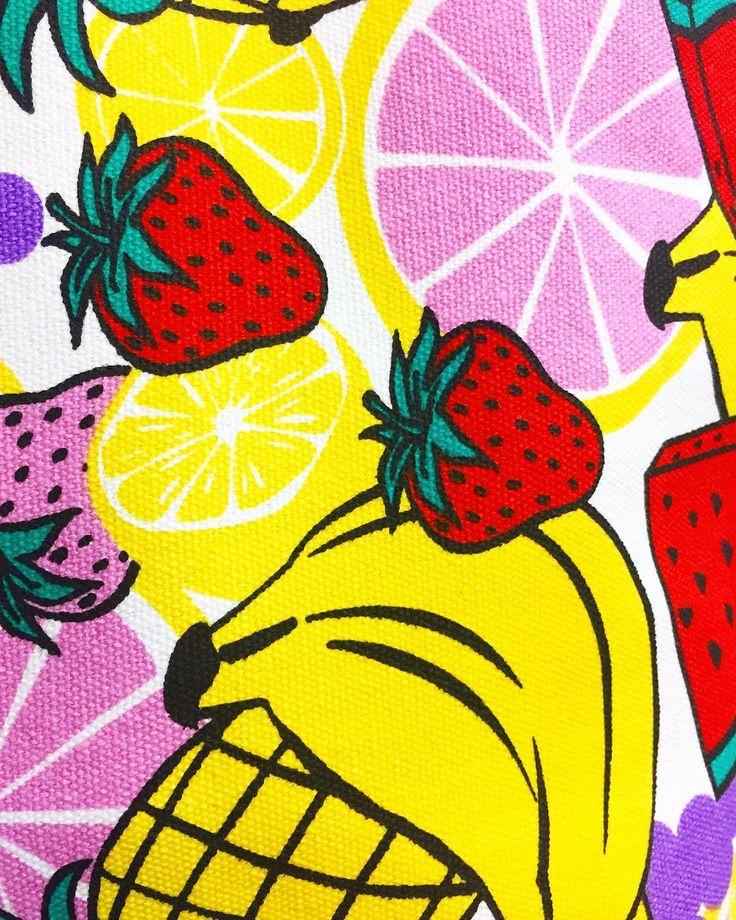 Fruit salad   Canvas totes   @southmelbournemarket   #totebag #canvastotebag #totes #tote #fruitsalad #fruits #noveltyprint #fruitbag #fruittotes #bag #bags #fruit #southmelbourne #southmelbournemarket #melbourne #melbourneshopping #banthebag #saynotoplastic #shoppingbag #marketbag #markettote #shoppingtote #shopping #koenjivintage