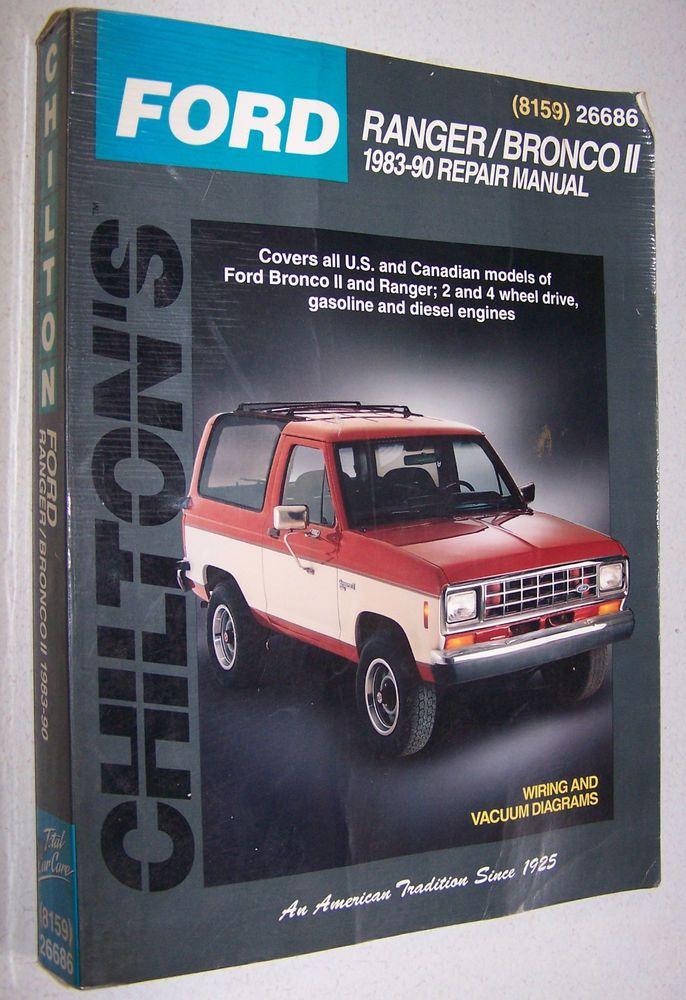 Ford Ranger and Bronco II 1983 90 Chilton Repair Manual (8159) 26686