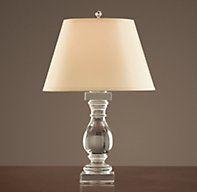 Crystal Banister Table Lamp nice shape $415 plus shade