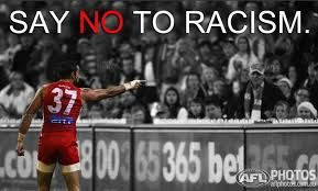 ADAM GOODES Sydney v Collingwood 2014 Challenging racist Collingwood supporter!