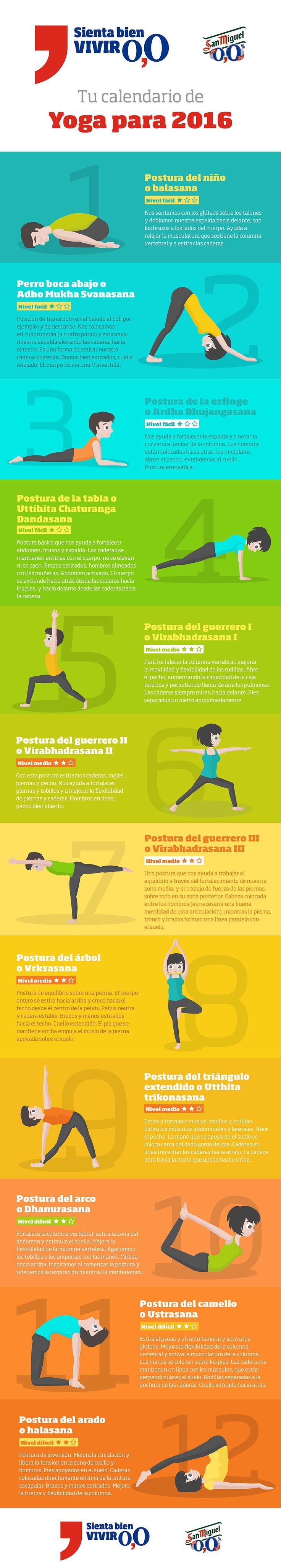Infografía sobre yoga para Vive 0,0, el Blog de San Miguel 0,0 #infografia #yoga #diseno #ilustracion