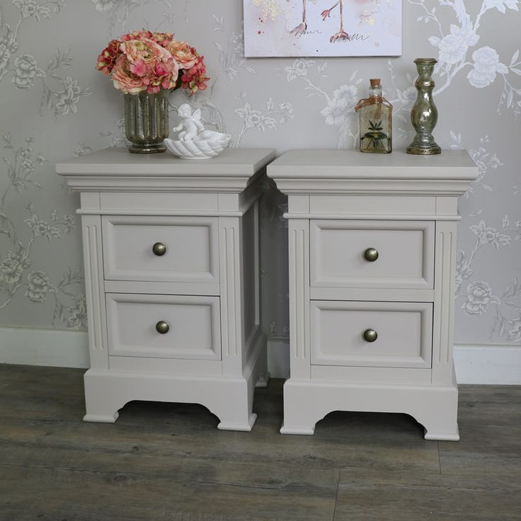 Best Pair Of 2 Drawer Grey Bedside Chest Cabinets Daventry 640 x 480