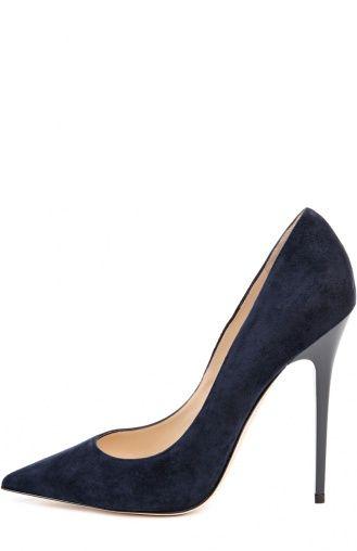Женские синие замшевые туфли anouk на шпильке Jimmy Choo, сезон SS 2016, арт…