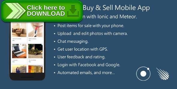 [ThemeForest]Free nulled download Buy & Sell Mobile App - Full Application with Meteor and Ionic. from http://zippyfile.download/f.php?id=39812 Tags: ecommerce, android, angular, buy and sell, classified ads, cordova, etsy clone, ionic, market, marketplace, meteor, mobile commerce, phonegap, shop, social commerce