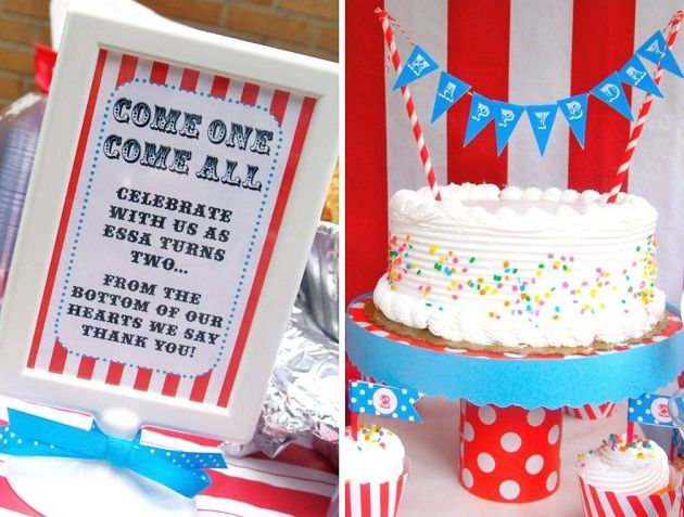 Love the straws and banner on the top of the cake.