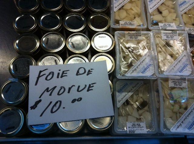 foie de morue marche du vieux port quebec gaspesie huile | Katerine-Lune Rollet et ses tuyaux bouffe