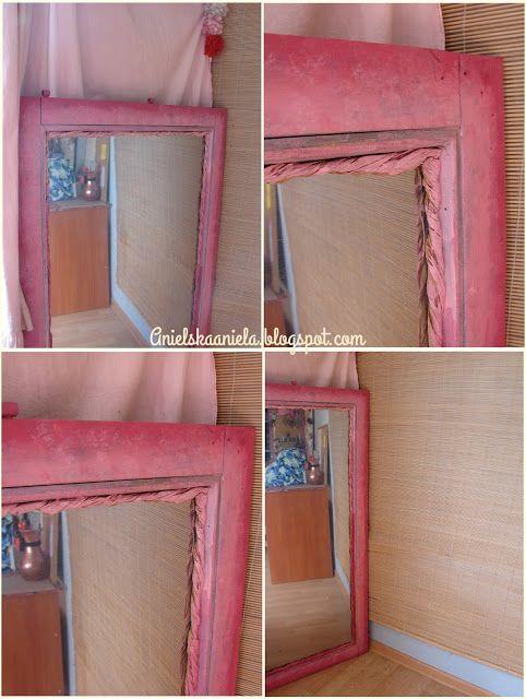 Diy tutorial How to: Make a Mirror and mirror frame  jak zrobić lustro z okna ? lustro i rama krok po kroku