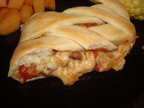 menu managed: Swiss Chicken and Bacon Bread Braid