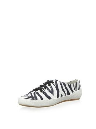49% OFF Charles Philip Shanghai Women's Bianca Lace-Up Flat (Zebra)