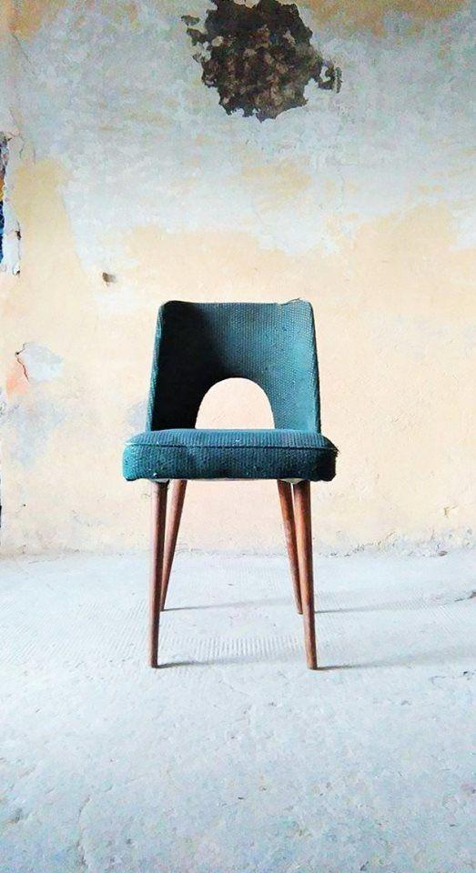 """Krzesło """"Muszelka"""" lata 60/70."""