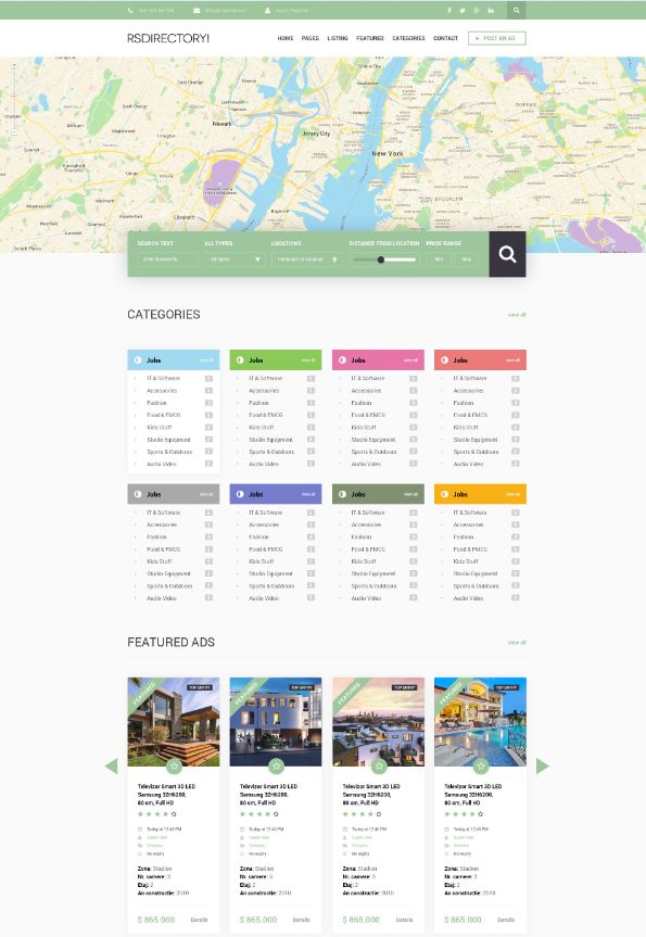 Sneak peek #RSDirectory! Template design specially made for directories - coming soon!  Stay tuned to see the whole thing and the demo. Interested?  #Directory #Template #New  Joomla!