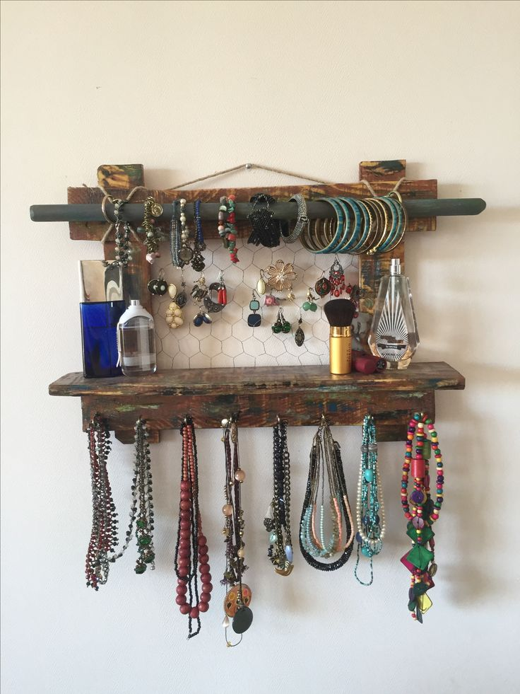 17 Best Ideas About Hanging Jewelry Organizer On Pinterest