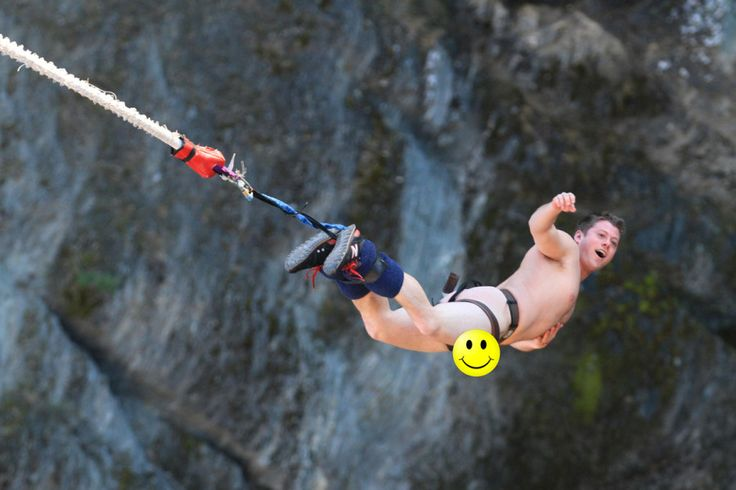 NAKED Bungee Jumping in Queenstown, New Zealand