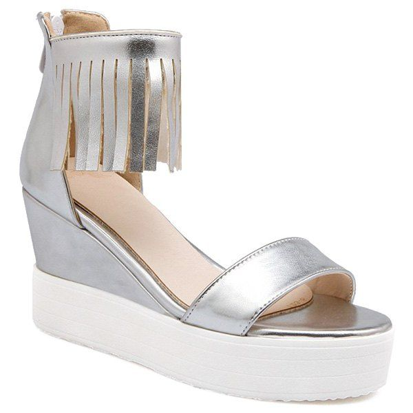 Fashion Women's Sandals With Fringe and Zip Design from 36.32$ by SAMMYDRESS