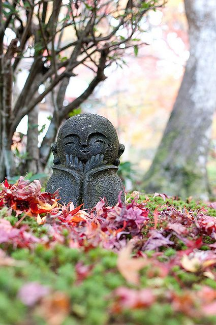 Jizo statue at Enko-ji temple, Kyoto, Japan