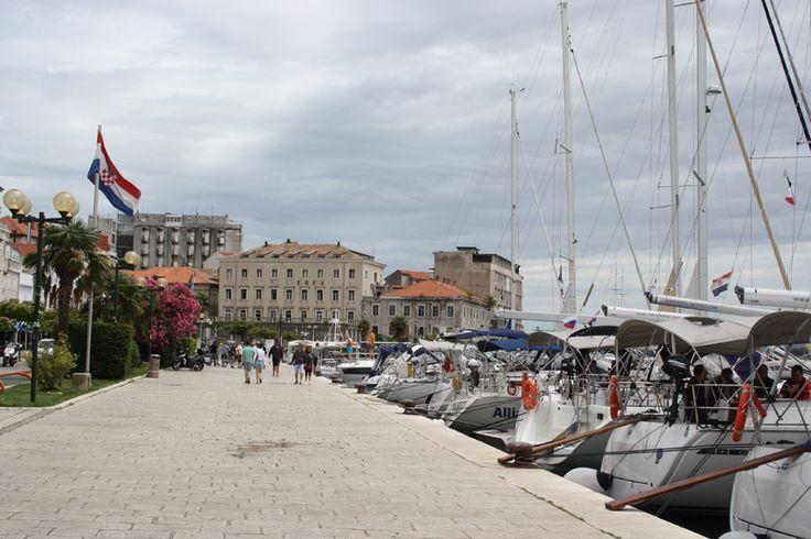 The marina in Sibenik, Croatia.