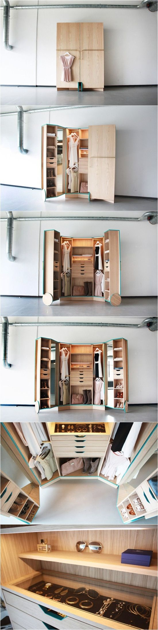 I don't have enough clothing or space in my room to justify one of these, but I certainly admire the design. More