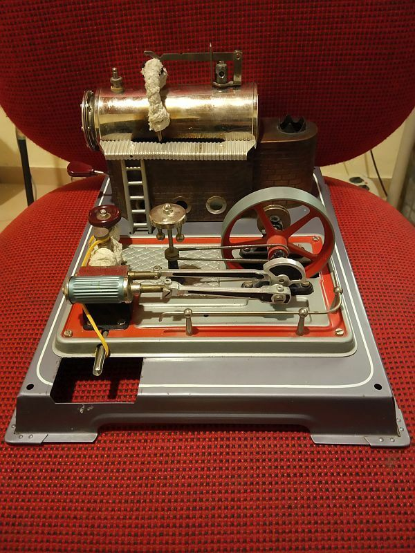 Vintage WILESCO D16? D10? live Steam Engine Boiler Heater Rare #Wilesco