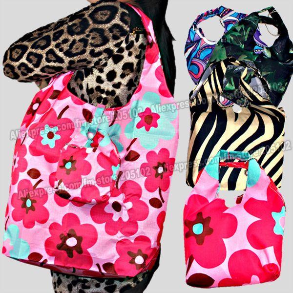 Купить 5 шт./лот Мода Ручка сумка + мода складной ткань хозяйственная сумка, много цветов смешивают продажа Экологичные прочный складной руки мешоки другие товары категории Хозяйственные сумкив магазине BLING SKY FASHION ACCESSORYнаAliExpress. bag поводок и мешок застежка