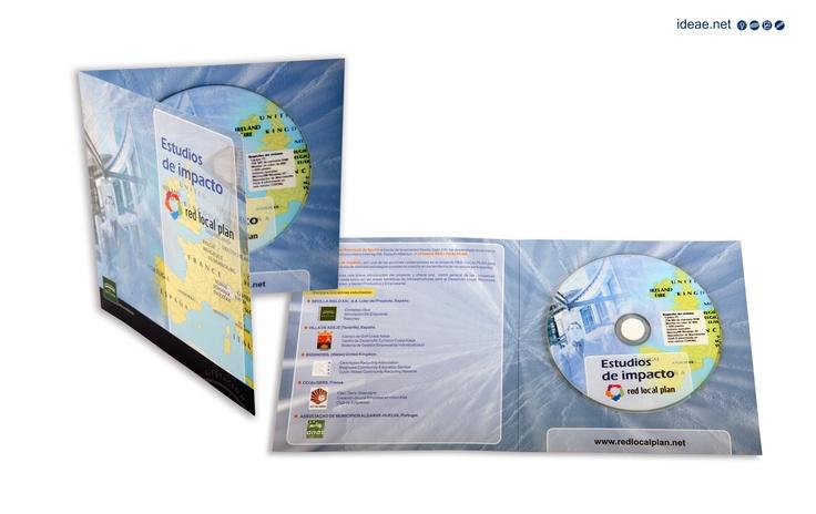 Folleto díptico con cd interactivo para el programa Red Local Plan de Diputación de sevilla ( Sevilla Siglo XXI).