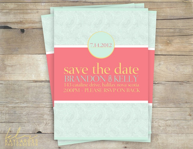 Turquoise And Coral Wedding Invitations: 22 Best Images About Pink & Turquoise Wedding Invites