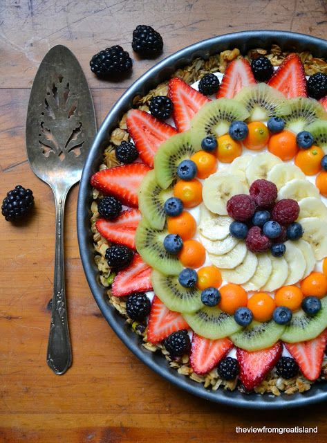 If I can make this without yogurt that would be yummy! The view from Great Island: Beautiful Breakfast Tart
