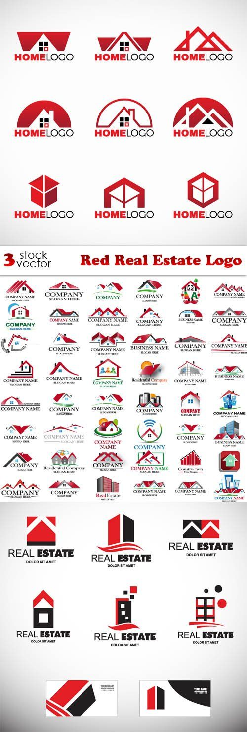 Vectors - Red Real Estate Logo