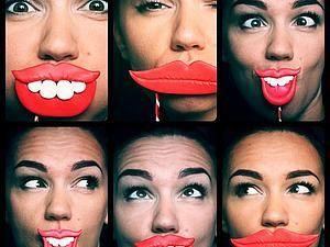 Губы с зубками для фотосетов! | Ярмарка Мастеров - ручная работа, handmade