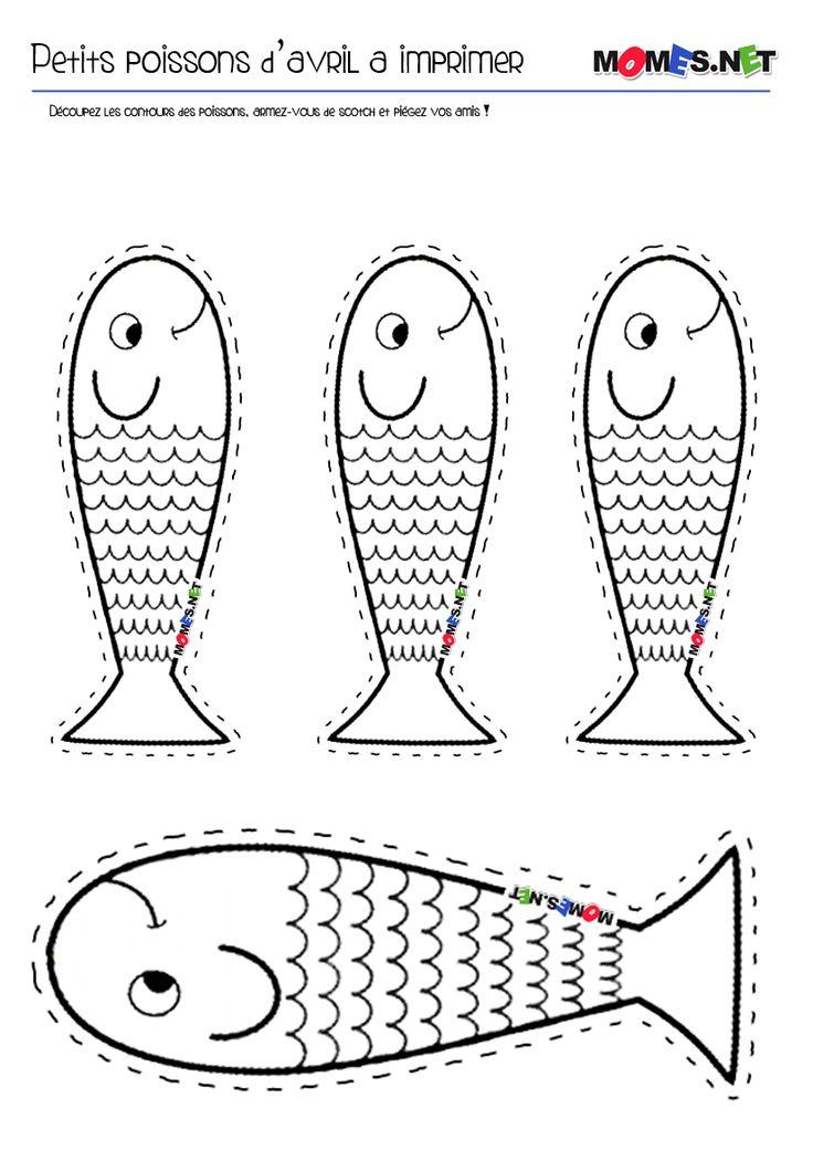 LE poisson d'avril à imprimer !