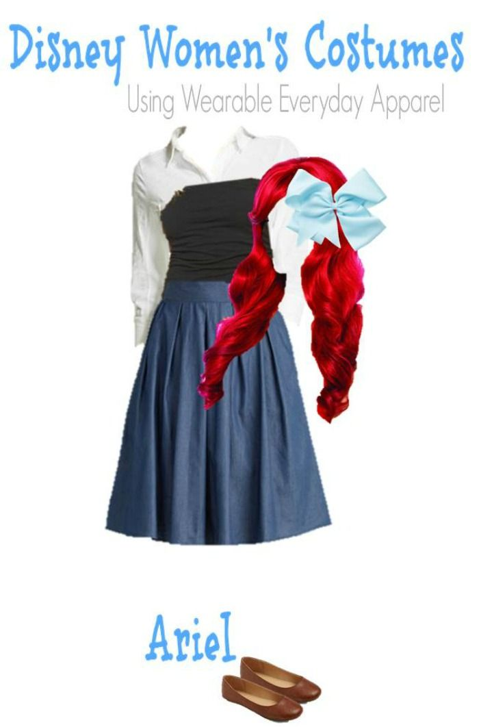 DIY Ariel Little Mermaid Halloween Costume for Adults - Style on MainStyle on Main