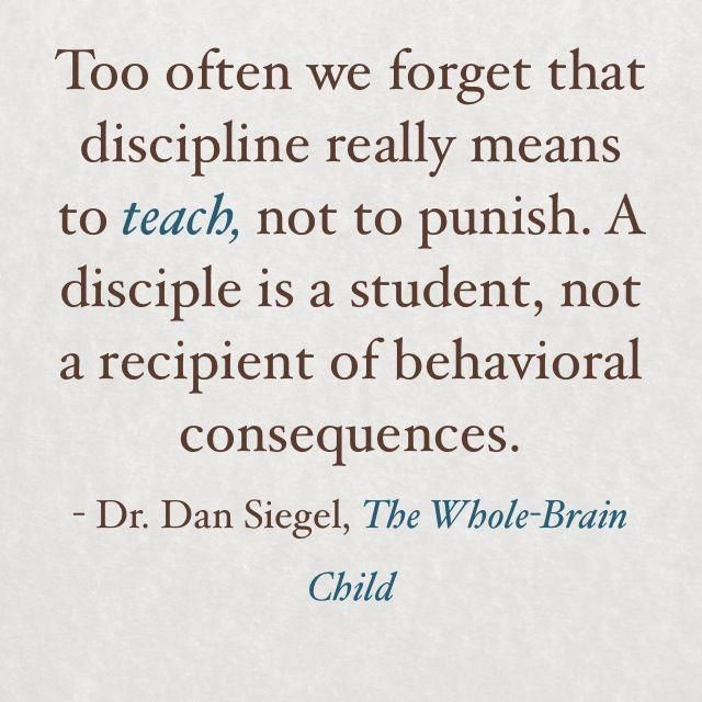 """It's true that misbehaviour is often the result of missing skills, so I applaud the emphasis on teaching. However, I think the author of this quote is using """"behavioral consequences"""" to mean punishment, which is a little misleading."""