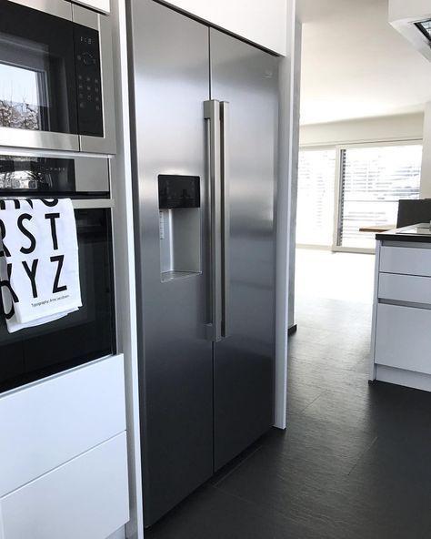 Gut Side By Side Kühlschrank In Schränke Integrieren   #integrieren #kochinsel # Kühlschrank #Schränke #SidebySide