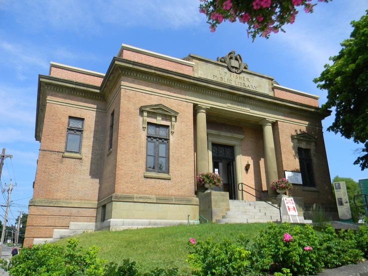L.P. Fisher Public Library on Woodstock, NB