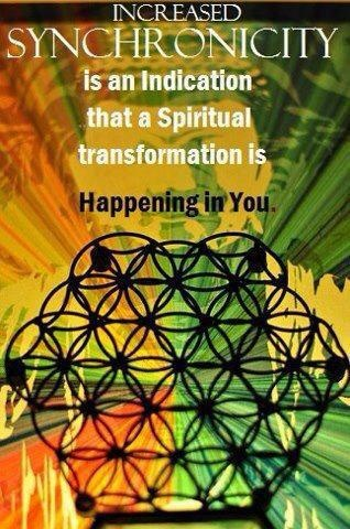 Synchronicity is an indication that spiritual transformation is happening to you!