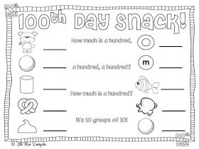 Little Miss Kindergarten - Lessons from the Little Red Schoolhouse!: 100th Day Freebie!