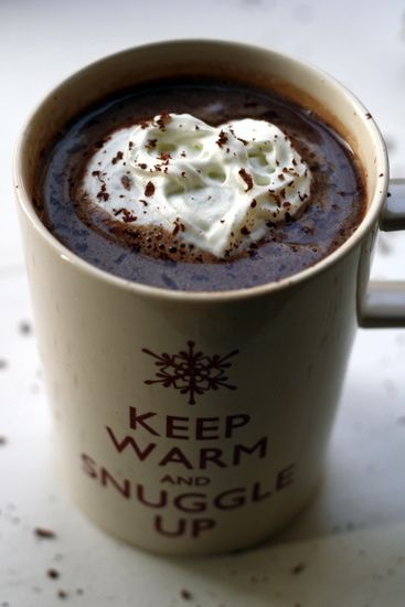 Salted caramel vodka hot chocolate-Anything with Vodka sounds great!!!