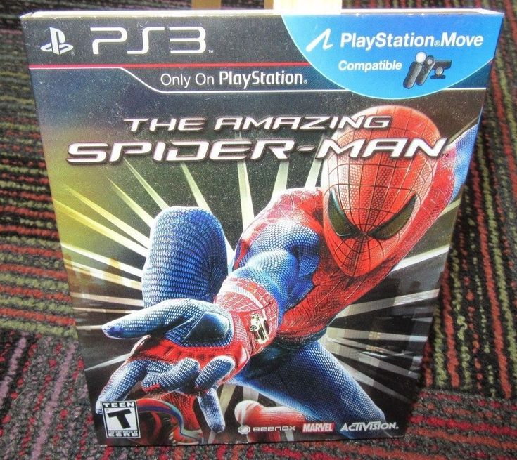 THE AMAZING SPIDER-MAN GAME FOR PLAYSTATION 3 PS3, CASE, GAME & BOOKLET, MARVEL