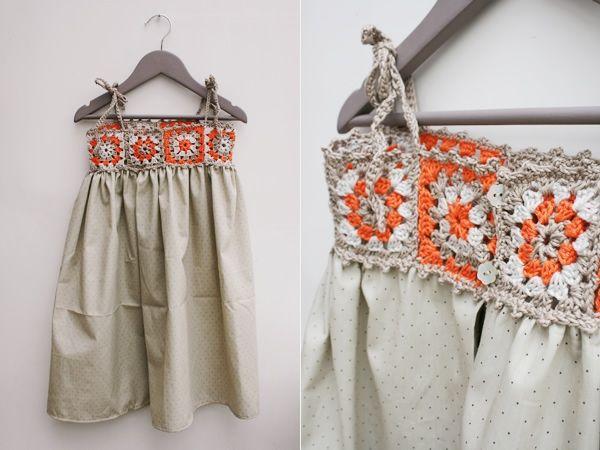 granny square yoke dress