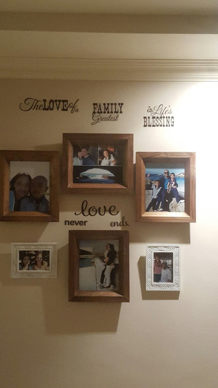Our Family Wall.  #WorkInProgress